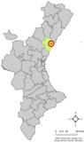 Localización de Alquerías del Niño Perdido respecto a la Comunidad Valenciana