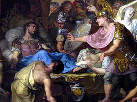Isaak Walraven, El lecho de muerte de Epaminondas. Rijksmuseum, Amsterdam.